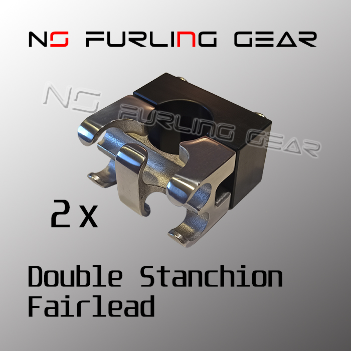 furling line stanchion mounted double fairleads
